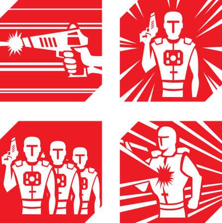 game gun: Laser Tag Icons