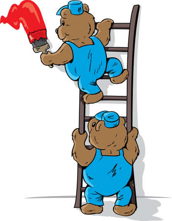 Painting bears Ilustracja