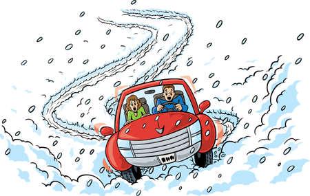 miedoso: Las carreteras resbaladizas Vectores