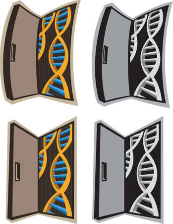 thymine: Door to DNA  Illustration