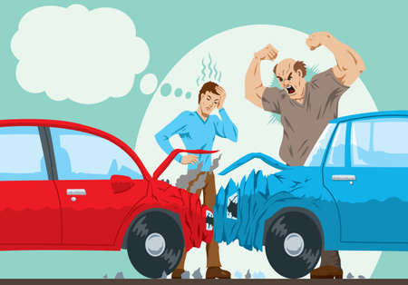 auto accident: Car Accident  Illustration