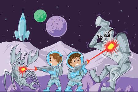 game gun: Astronaut kids