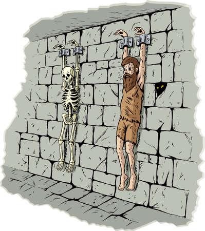 悲しい囚人  イラスト・ベクター素材