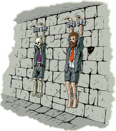 shackled: Sad business prisoner