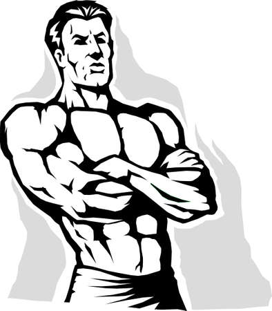 crossed arms: Power stance Illustration