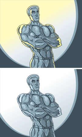 titanium: Metal Statue