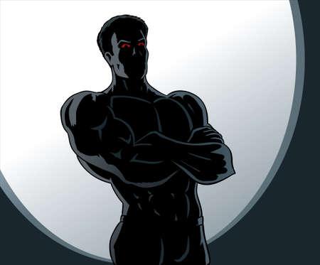 confident man: Angry man  Illustration
