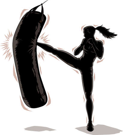 kickboxing: Kickboxer    Illustration