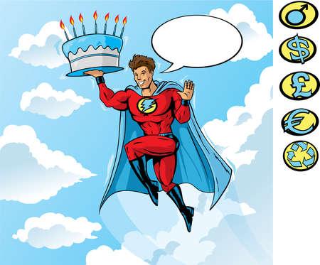 スーパーの誕生日  イラスト・ベクター素材
