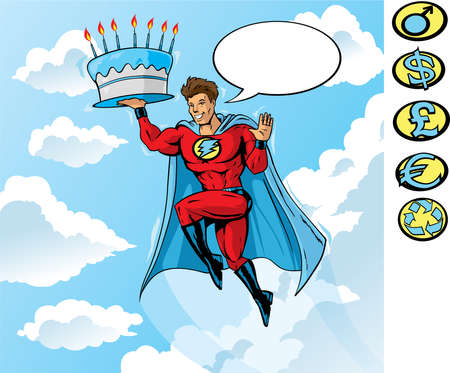 Super Birthday Vector