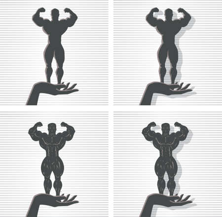 forearms: Hand and Bodybuilder