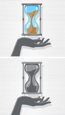 time out: Hand and hourglass