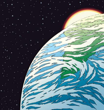 Earth Drawing Ilustração