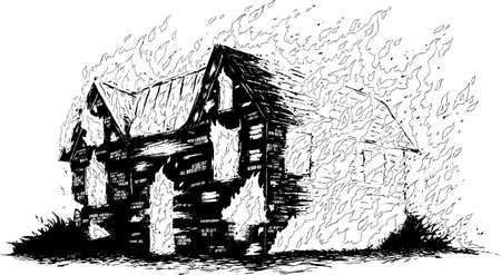 burning: Burning house Illustration
