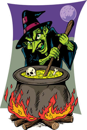 Ugly witch Vector