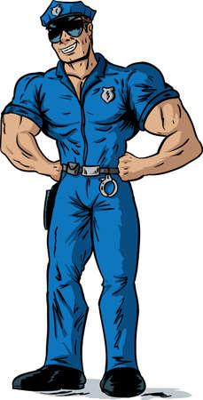 Sexy Police officer Banco de Imagens - 20163710