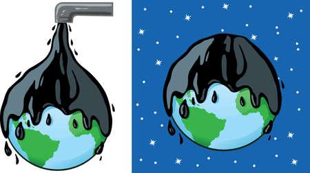 Oily planet Ilustração