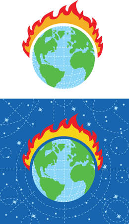 Fire Earth Stock Vector - 20163715
