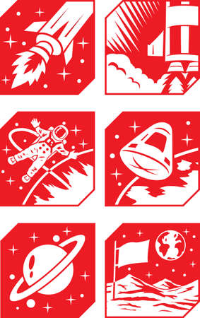 Space Icons Stock Photo - 20460561