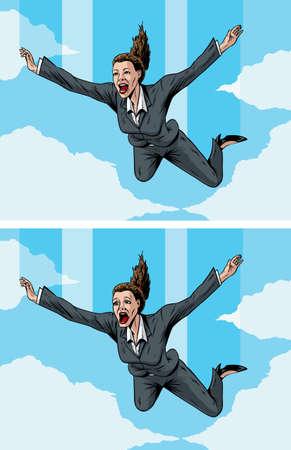stockbroker: Happy and scared  Stock Photo
