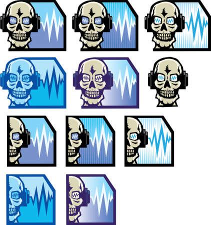 earbud: DJ SkullFace