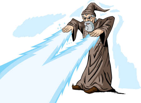 Zapping Wizard Vector