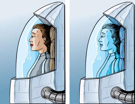 Cryogenic girl Illusztráció