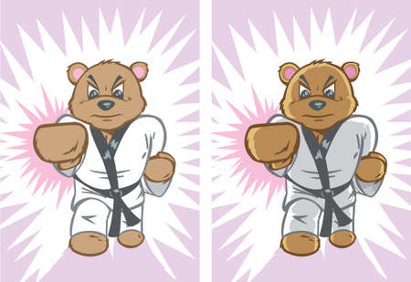 Karate Bear Vector