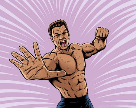 wrestler: Intense puncher