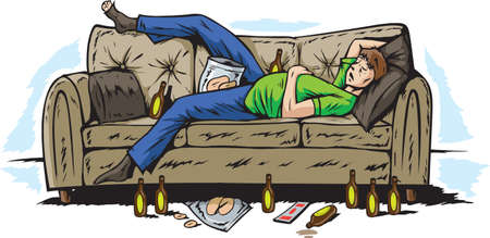 Hungover Dude Illustration