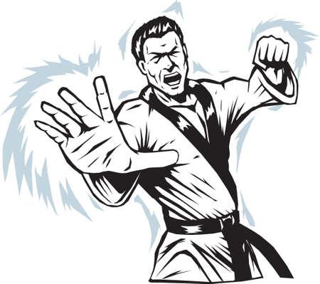 intense: Intenso Arti marziali Man Vettoriali