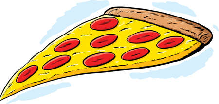 Pizza Slice  Stock Illustratie