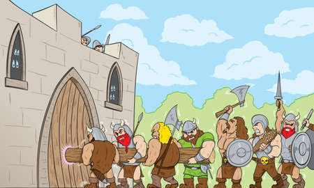 Barbarians at the Gate Illustration