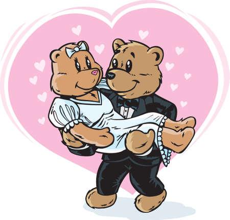 Wedding bears  Ilustração