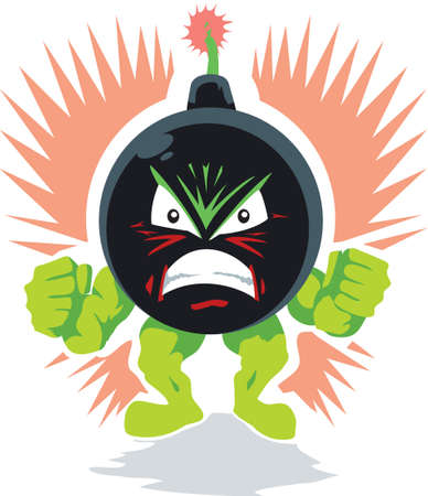 Angry Bomb Ilustrace