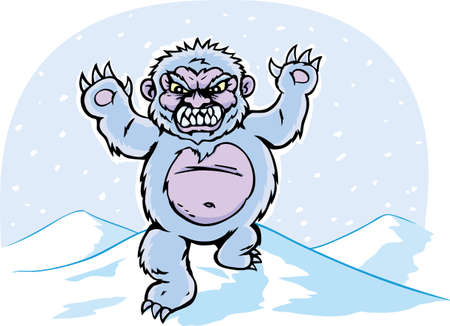Angry Yeti Stock Illustratie