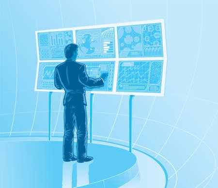 future business: Future business room Illustration