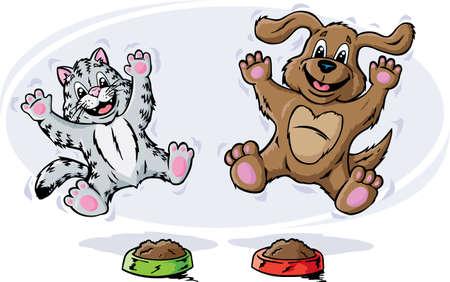 tabby cat: Happy Pets Illustration