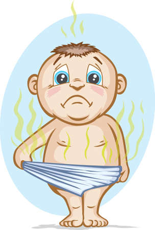 Smelly Diaper  Illustration