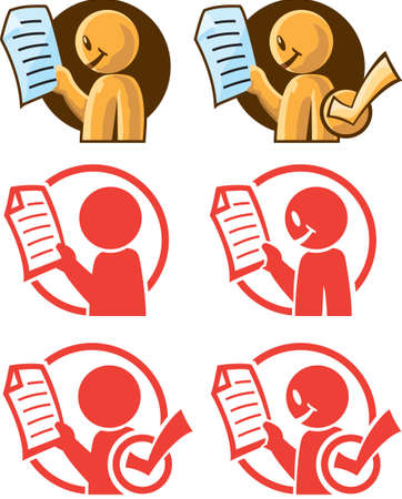 approving: Little Reader Illustration