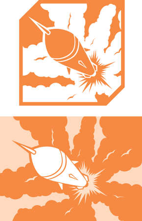 Icon Rocket launch Stock Vector - 21586287