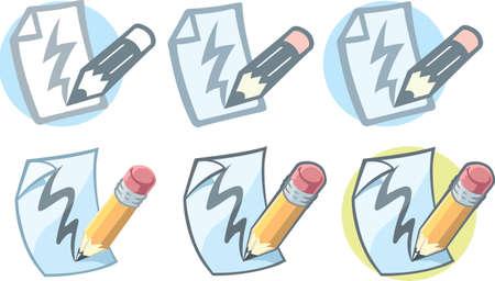 鉛筆紙のアイコン