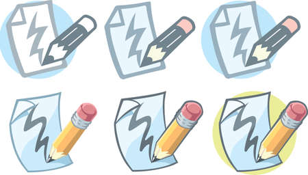 scribbling: Pencil paper icon