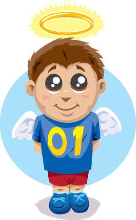 angelic: Ni�o angelical Vectores