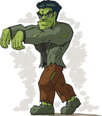 cartoon frankenstein: Walking Frankenstein