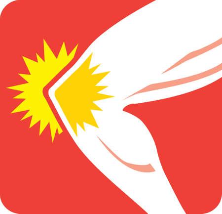무릎 통증 아이콘 일러스트