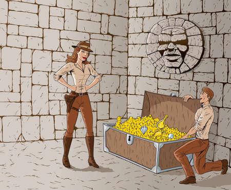 hunters: Treasure hunters  Illustration
