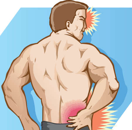 hurting: Back Pain Illustration
