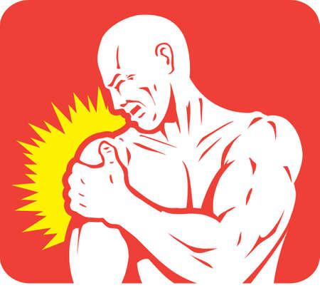 Schulterschmerzen Icon Standard-Bild - 23269983