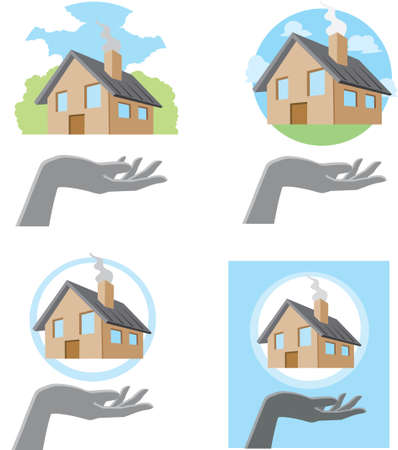 Handy House Vector